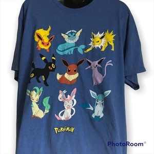 NWT Pokémon graphic T-shirt with layout of character on front